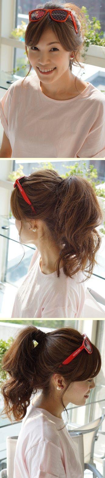 かわいすぎる「スポーツ観戦ヘア」アレンジ実例7つ フェスやライブなどアクティブな日におすすめ☆ #髪型 #ヘアスタイル #ヘアアレンジ #hairstyle