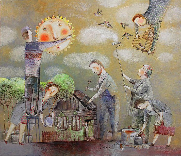 Необыкновенно добрая живопись Анны Силивончик.... Обсуждение на LiveInternet - Российский Сервис Онлайн-Дневников