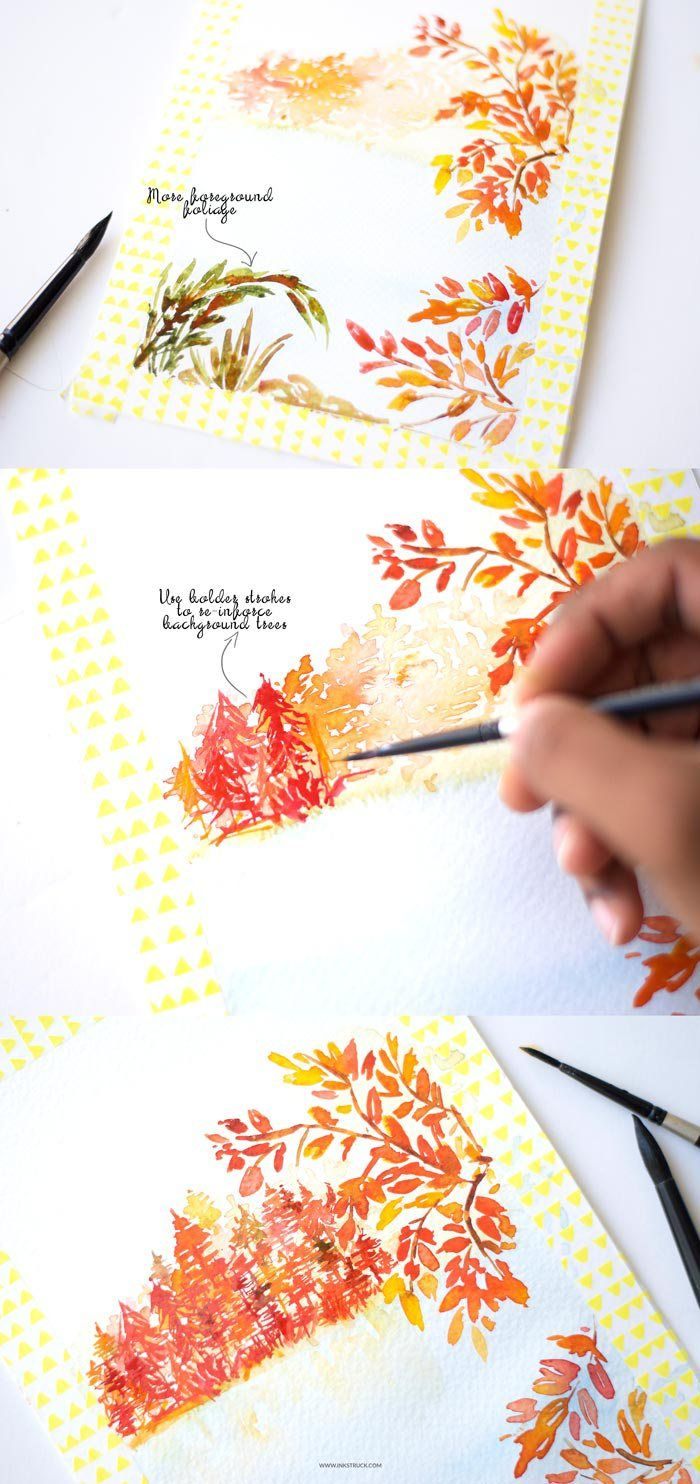 In this second part of mark making in watercolors, learn to create a finished illustration from start to finish using a round brush and expressive strokes. - Inkstruck Studio