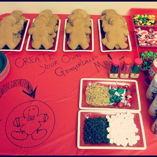 Create your own gingerbread man party station