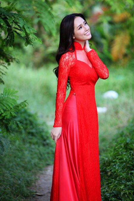 Ao dai .Can add hijab for the perfect outfit