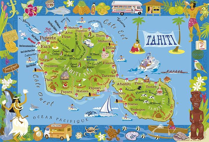 Map Of Easter Island And Tahiti