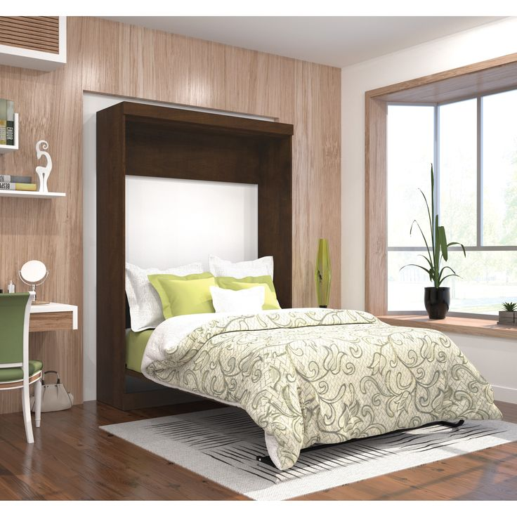 Enhance the look of your bedroom, and save space with the Bestar Pur Full Wall Bed. Made of quality materials, this wall bed is both durable and stylish.