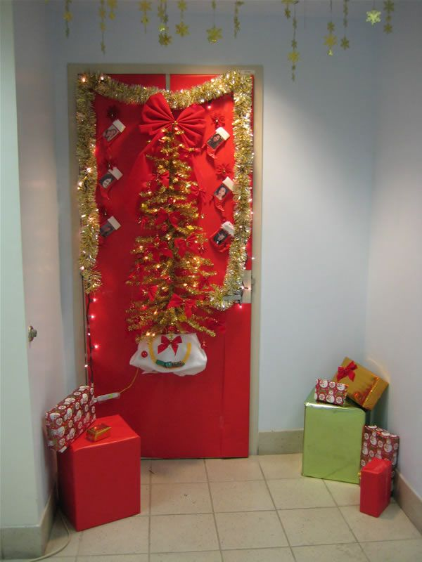 Cute Christmas Door Decorating Ideas Xmas Crafts