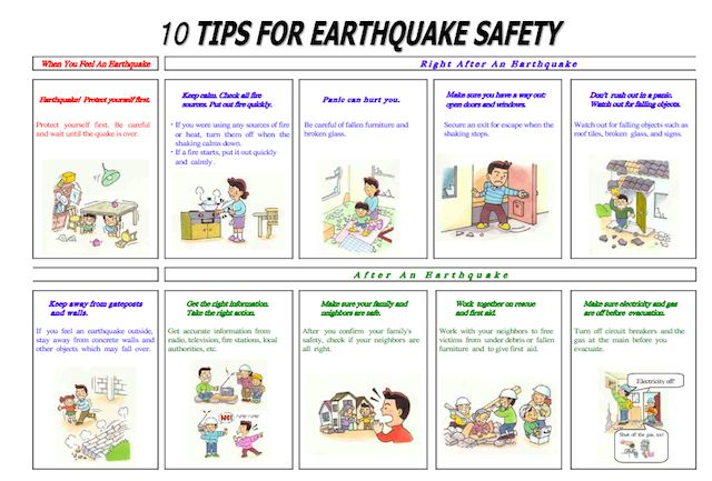 Emergency plan template download safety tips during an for Best place to be in an earthquake
