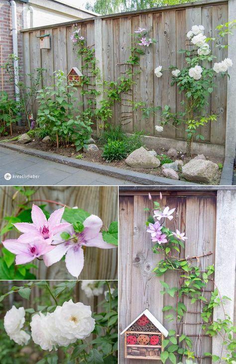 DIY Kletterhilfe für Pflanzen im Garten bauen