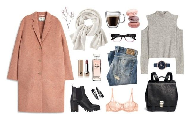 """""""tenderness winter"""" by alenaganzhela on Polyvore featuring мода, Acne Studios, Marc Jacobs, Chanel, Barneys New York, Bodum, Proenza Schouler, Diesel, H&M и Wrap"""