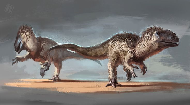 Yutyrannus - This feathered tyrannosaur roamed the Early Cretaceous, and is regarded as the biggest feathered dinosaur ever. It was a carnivore, and likely used these feathers for insulation or display.