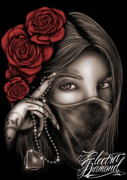 Gangster #design #art #gangsta #painting #like | Lowrider ...Gangsta Artwork