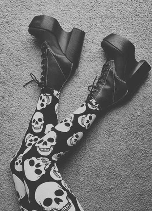 platform boots #fashion #boots #goth