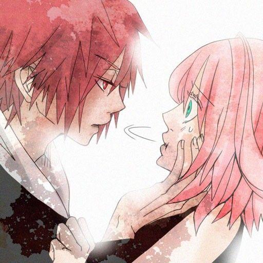 Sasoria & Sakura | Naruto Sippuden | I don't ship it, the picture is so pretty so I pinned it!