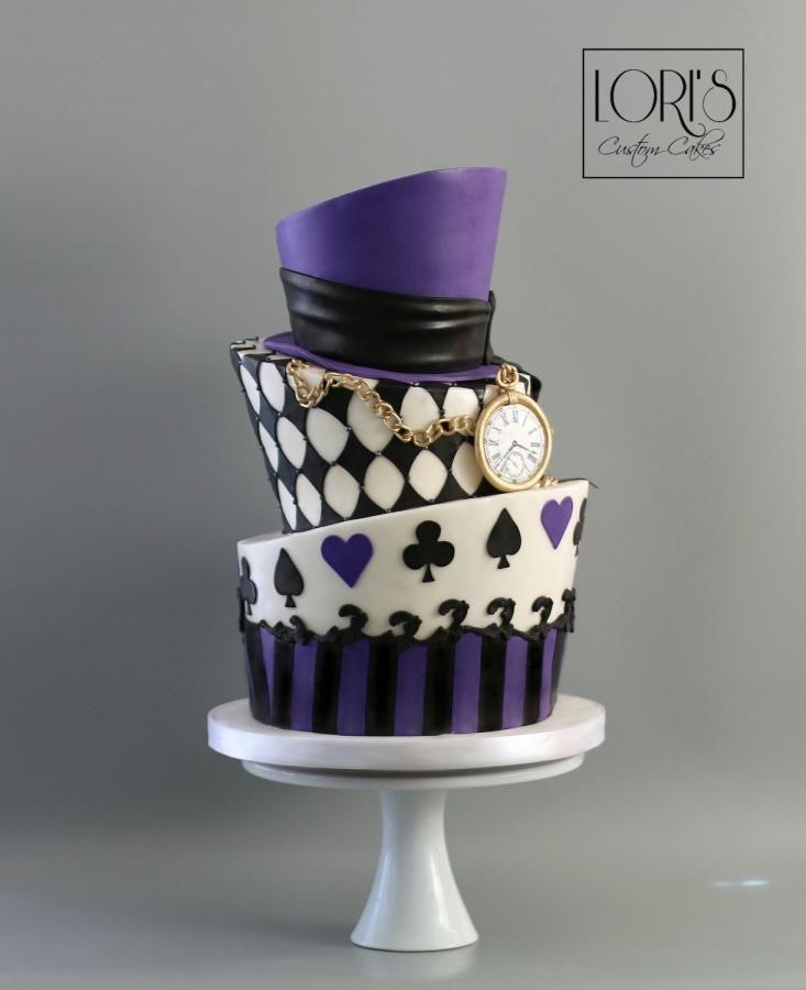Mad Hatter Wedding Cake by Lori Mahoney (Lori's Custom Cakes)