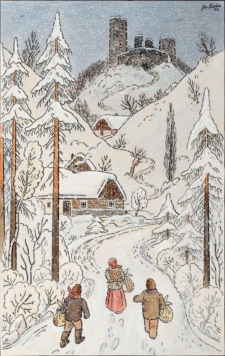 1942 Josef Lada (1887-1957)  Koledníci