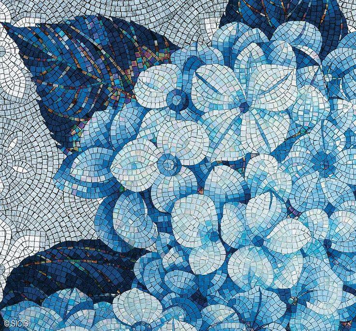 Sicis Flower Power Blue Floral Mosaic Sicis Mosaic