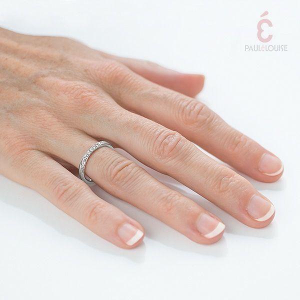 "PAULÉLOUISE — Alliance ""torsade"" diamants"
