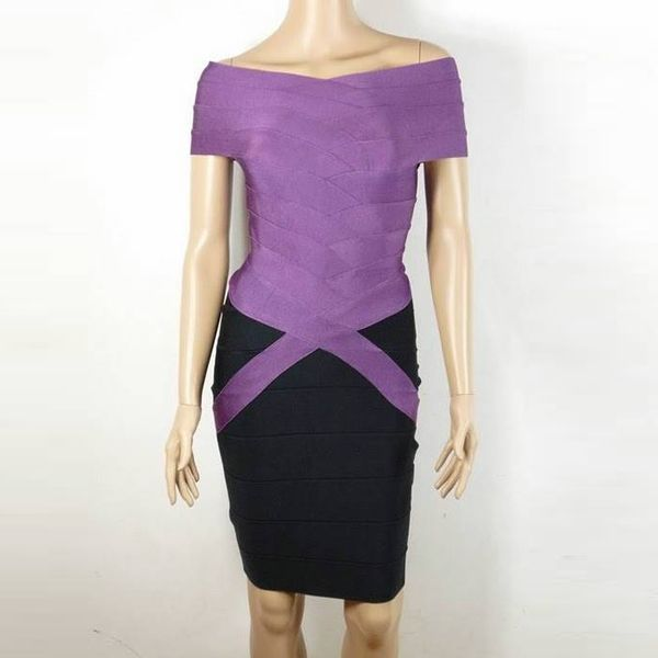 Herve Leger Couture Dress in Purple or Black  $159.39