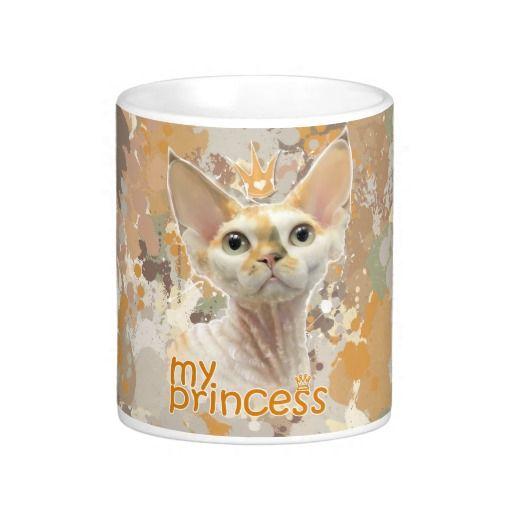 Чашка с рисунком. Devon Rex (My Princess) I love my cat, my princess, my Devon Rex! Футболки, майки и другая яркая одежда, обувь, аксессуары с авторским портретом кошки породы Девон Рекс. Вы можете купить одежду с этим рисунком, Такие вещи носить приятно, они обязательно поднимут настроение вам и окружающим. или с другими дизайнерскими принтами, а так же заказать портрет (нарисовать ) своего питомца. Для связи layanna@layanna.ru
