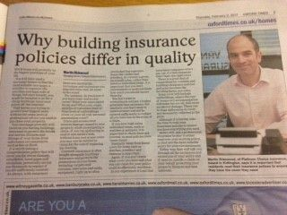 Our client Martin Ridewell, discussing business insurance for Platinum Choice in The Oxford Times. To see yourself feature, contact us at www.pushstartmarketing.co.uk