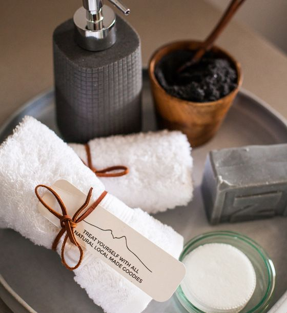 Charcoal soap and bath salts # Rhino #Bathroom #Beauty #Charcoal #Soap #Decor