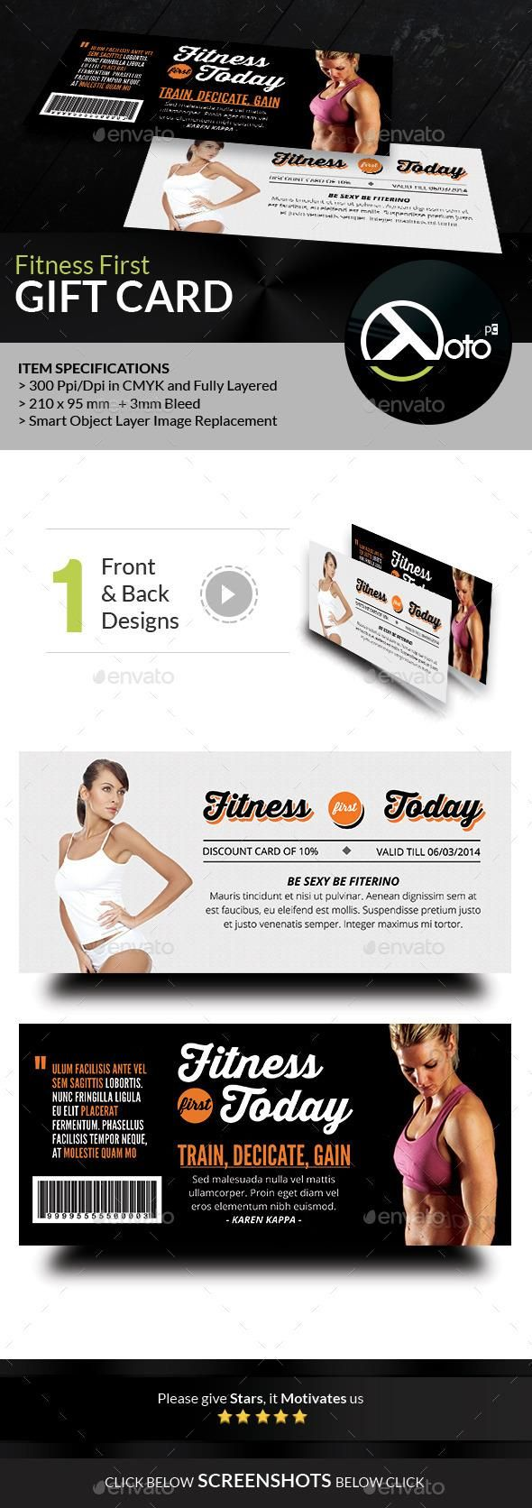Fitness First Today Health Promotional Gift Voucher  #template #cards #print #invites
