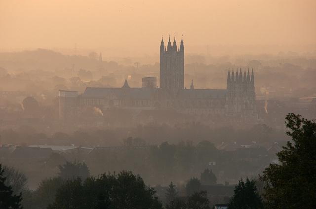 Canterbury Cathedral at dawn....  A familiar sight