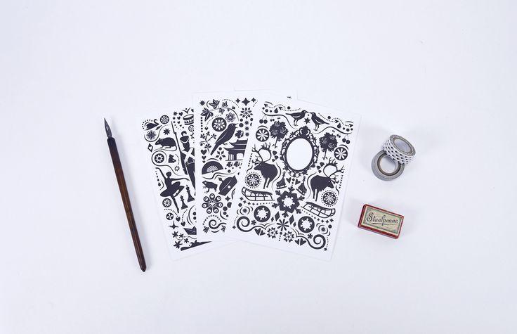 Fairy Tale Package #grandstoriesdesign #illustration #stationery #paperlove #webshop #newwebshop #papershop #fairytale #card #print #paperdesign #pattern #hcanderson