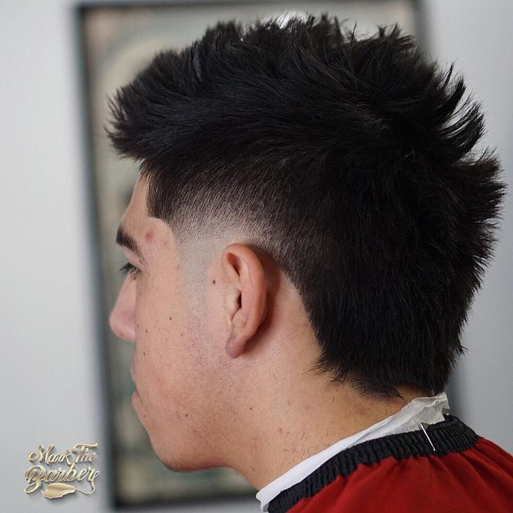 Burst Fade Mohawk Haircuts For Boys