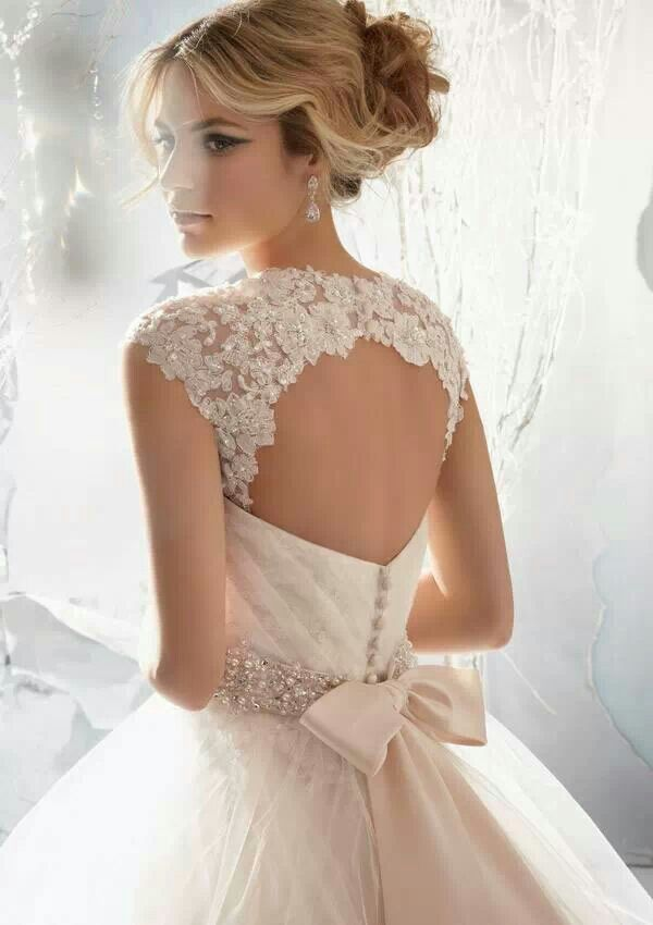 Bow Back Wedding Gown
