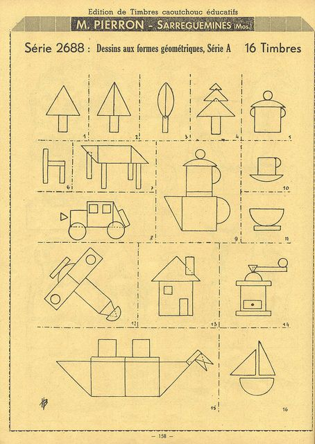 An old rubber stamp catalogue.  Simplet cutouts