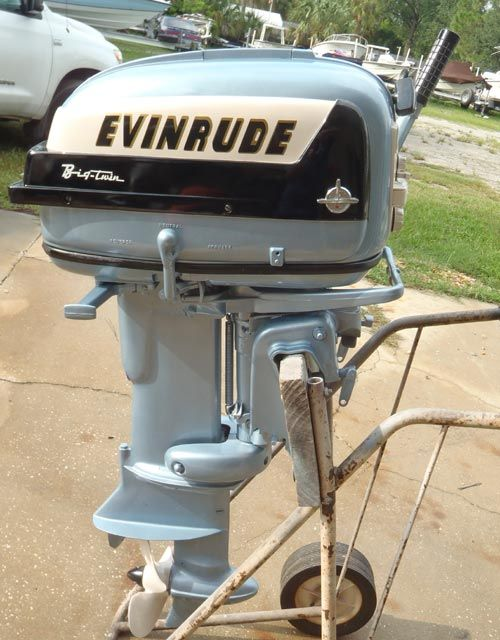 Image detail for -1957 35 hp Evinrude Outboard Antique Boat Motor For Sale