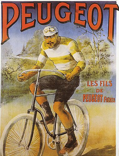 Peugot - from a flickr set dedicated to bicycle posters.