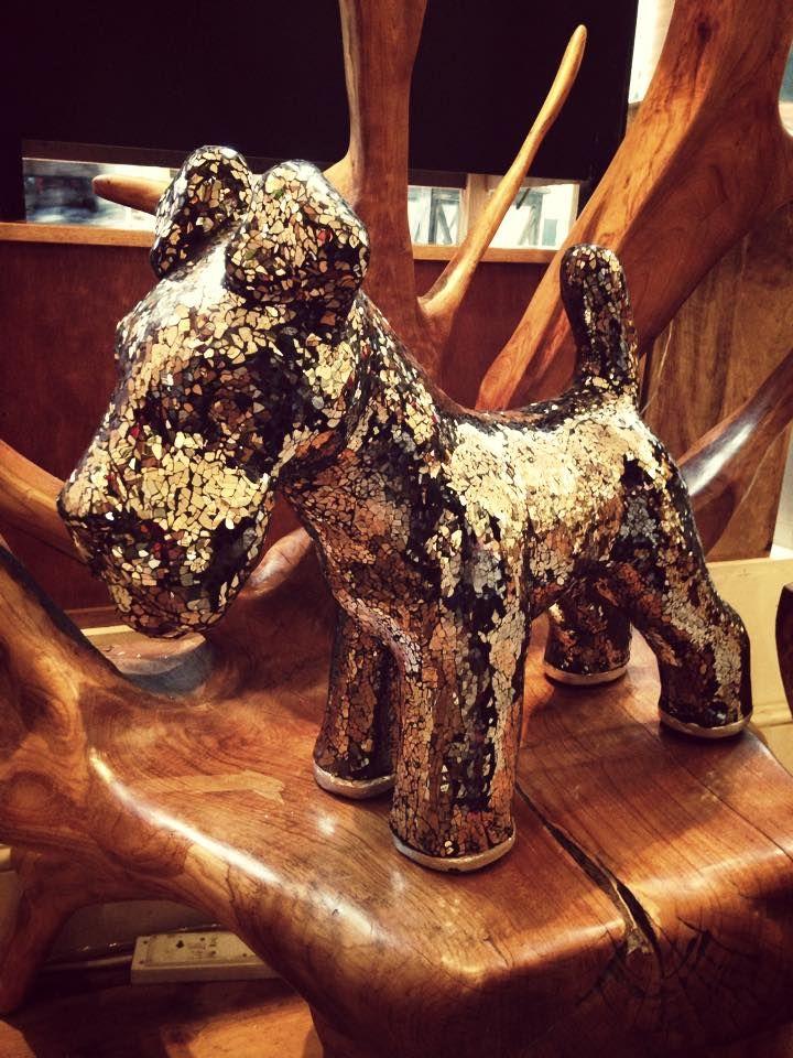 Our fabulous mosaic Scottie dog!