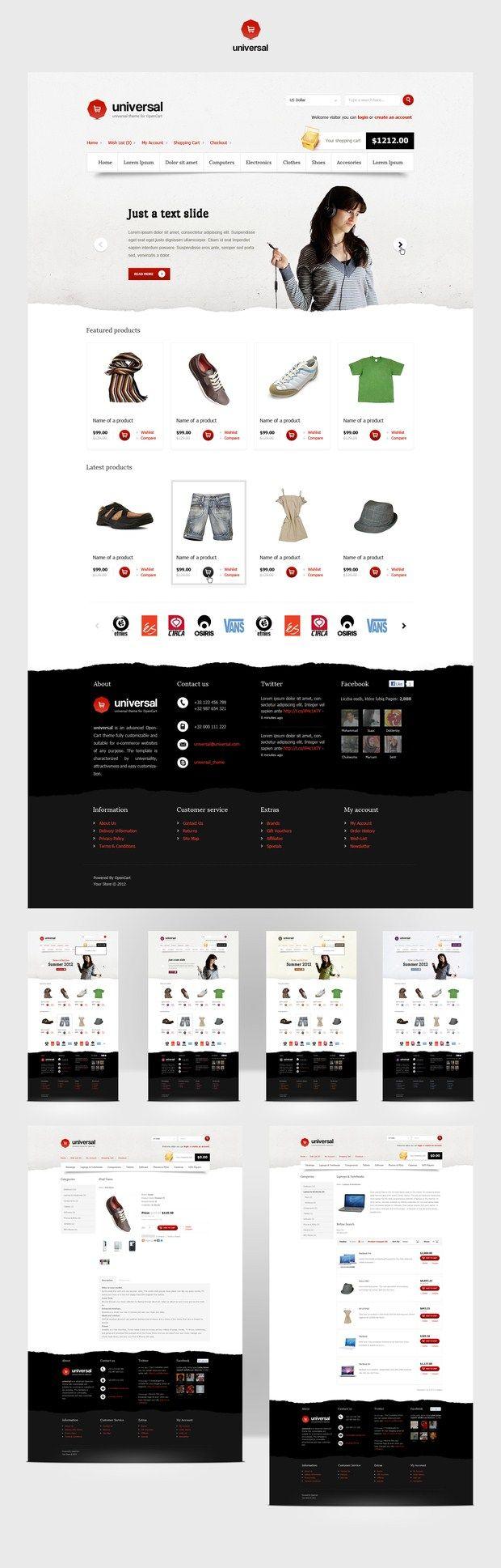web design inspiration - fashion store