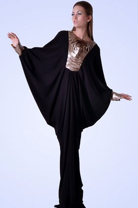 arabic fashion and make up, black with goldy brown1