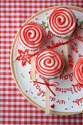 Peppermint Lollipop Cupcakes holiday cookies and candy