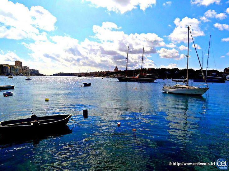 Séjour linguistique à Malte avec le CEI #Malte #Malta #CEI #voyage #travel #colonie #sejourlinguistique #holiday #paradise #summer #sun #water #clouds
