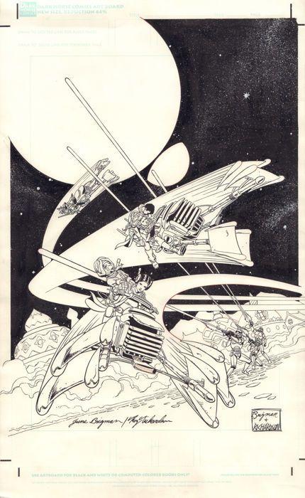 Dark Horse Comics - June Brigman & Roy Richardson - Original Cover Art - Star Wars: River of Chaos #2 - (1995) - W.B.