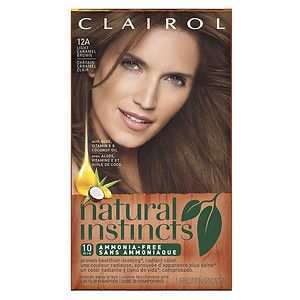 Buy Clairol Natural Instincts Non-Permanent Hair Color, 12A/6BZ Light Caramel…