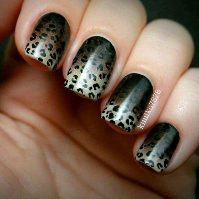 59 best leopard nail art & make up images on Pinterest   Leopard ...