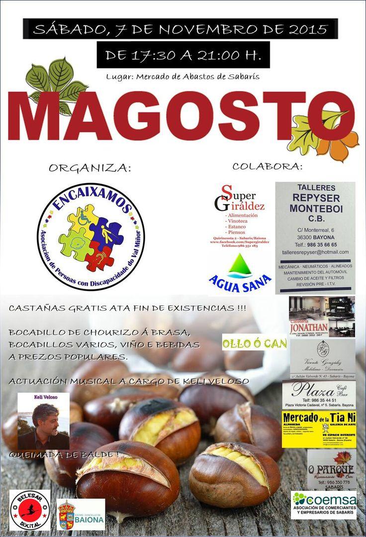 MAGOSTO 2015! ÚNETE! Día 7 de novembro