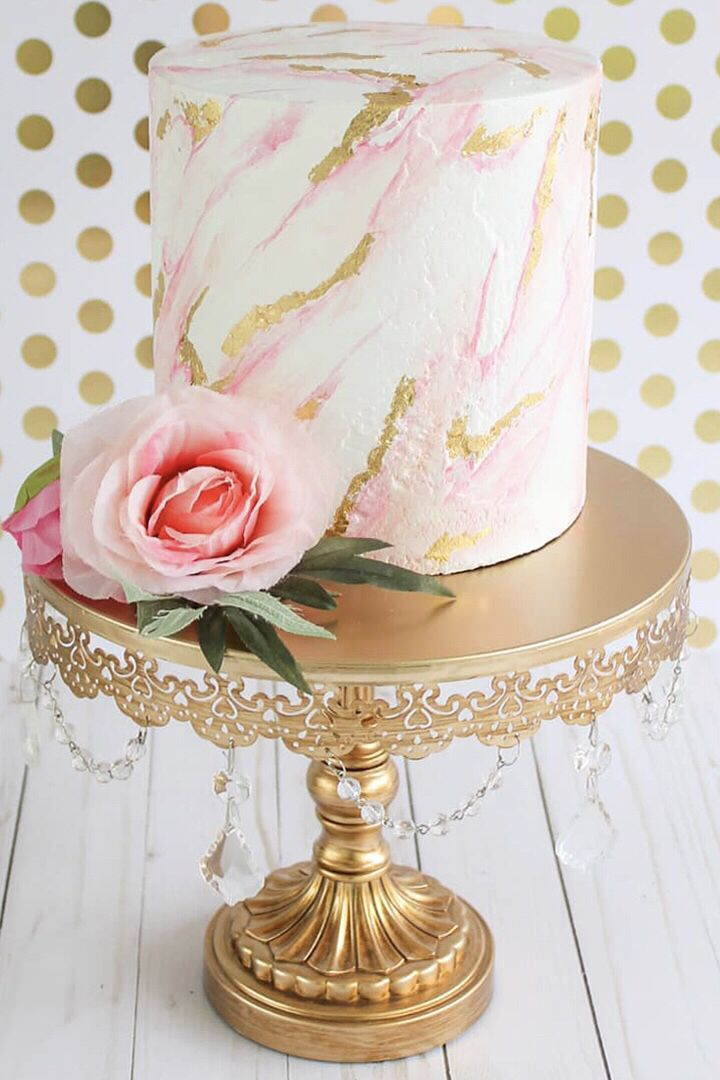 gold wedding cake stand 16 inch