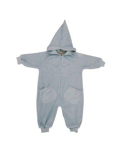 Memini Barneklær på nett - Bunny fleece Overall Grey/Blue