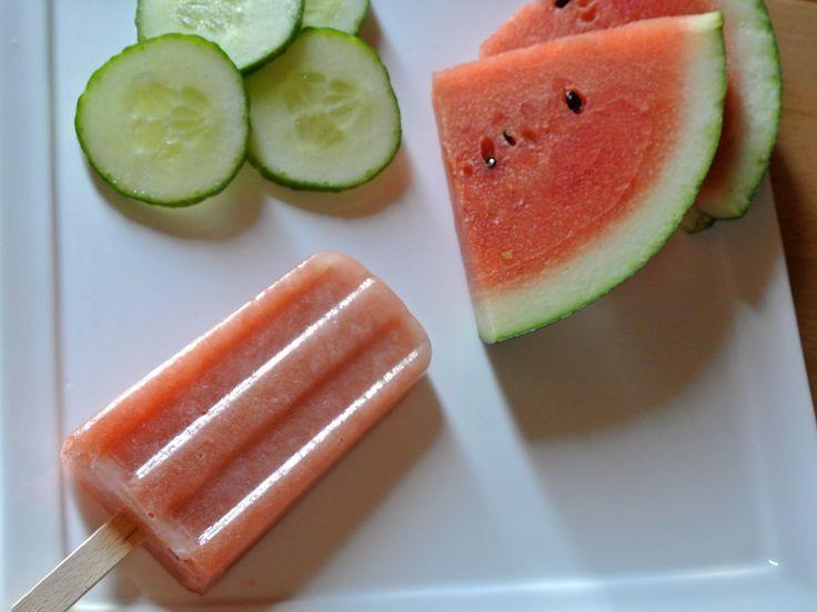Eis am Stiel: Wassermelone Gurke