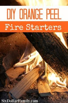 DIY Orange Peel Fire Starters - Don't throw those orange peels away! Make these DIY Orange Peel Fire Starters instead! Great for your next camping trip or summer bonfire! Great for emergency preparation too!