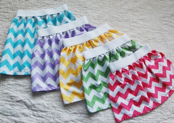 Spring Chevron Skirts Easter Skirt by littlespudboutique on Etsy, $20.00