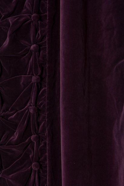 Plum velvet curtains from Anthropologie - they are no longer available in this color? but they are inspiration anyway.