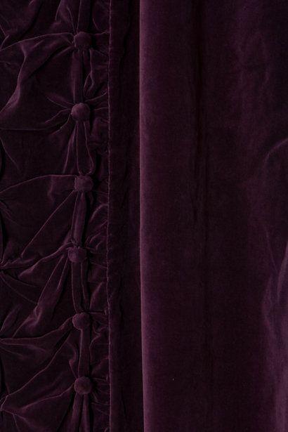 **Plum velvet curtains from Anthropologie.