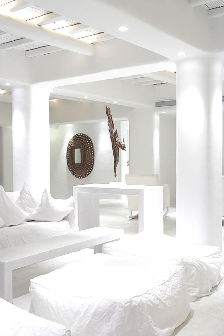 All White.....in a Luxury Hotel Mykonos