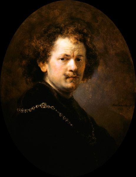 Rembrandt van Rijn - auto-portrait avec la tête entbloesstem,(1633)  Paris, Musée du Louvre