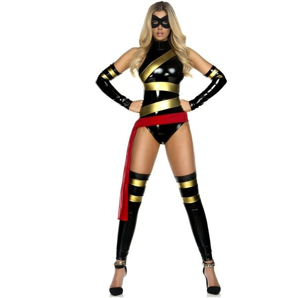 womens miss marvelous superhero costume 79 liked on polyvore featuring costumes costume - Heroes Halloween Costumes